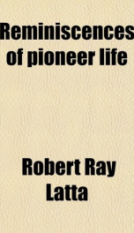 reminiscences of pioneer life_cover