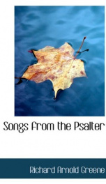 songs from the psalter_cover