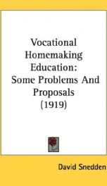 vocational homemaking education some problems and proposals_cover
