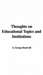 Thoughts on Educational Topics and Institutions_cover