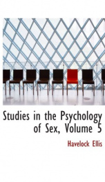 Studies in the Psychology of Sex, Volume 5_cover