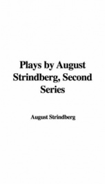 Plays by August Strindberg, Second series_cover