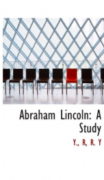 abraham lincoln a study_cover