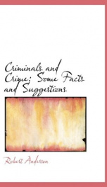 criminals and crime some facts and suggestions_cover