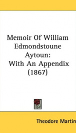 memoir of william edmondstoune aytoun_cover