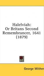 halelviah or britans second remembrancer 1641_cover