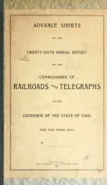 Annual report of the Commissioner of Railroads and Telegraphs to the Governor of the State of Ohio for the year .. 1893_cover