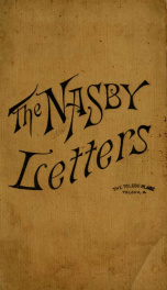 The Nasby letters : being the original Nasby letters, as written during his lifetime_cover