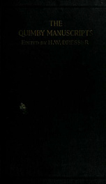 The Quimby manuscripts_cover