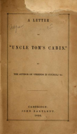 """A letter on """"Uncle Tom's cabin""""_cover"""