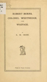 Robert Burns, Colonel Westnedge, and waifage_cover