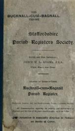 ... Bucknall-cum-Bagnall parish register, 1762-1812_cover