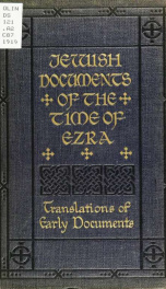 Jewish documents of the time of Ezra_cover