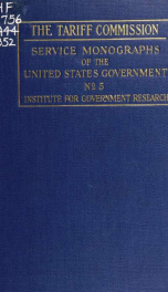 The Tariff commission; its history, activities and organization_cover