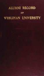 Alumni record of Weslyan University, Middletown, Conn_cover