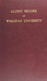 Alumni record of Wesleyan university, Middletown, Conn_cover
