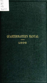 Manual for the Quartermaster's Department. Published by the authority of the Secretary of War, for use in the Army of the United States_cover