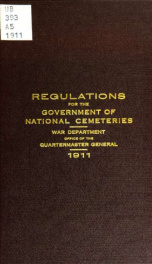 Regulations for the government of national cemeteries_cover