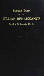 A literary source-book of the Italian Renaissance_cover