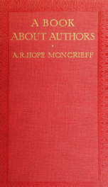 A book about authors; reflections and recollections of a book_cover