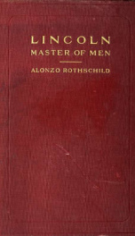 Lincoln, master of men: a study in character_cover