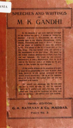 Speeches and writings of M.K. Gandhi_cover