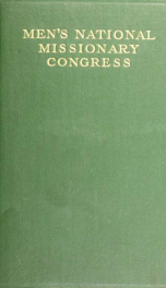 Proceedings of the Men's National Missionary Congress of the United States of America : Chicago, Illinois, May 3-6, 1910_cover