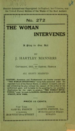 The woman intervenes; .._cover