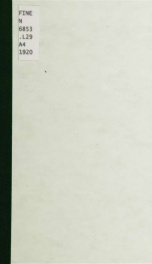 Catalogue of an exhibition of paintings and drawings by Gaston La Touche and Louis Maurice Boutet de Monvel : the Memorial Art Gallery, Rochester, New York, June, July, August, nineteen hundred twenty_cover