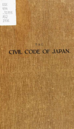 The civil code of Japan_cover