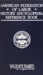 American federation of labor; history, encyclopedia, reference book_cover