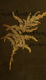 Friar Anselmo, and other poems_cover
