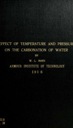 A study of the effect of temperature and pressure on the carbonation of water_cover