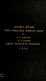 A process for the production of soluble potash from insoluble igneous rock_cover