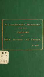 A laboratory handbook for the analysis of milk, butter and cheese_cover