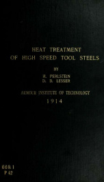 Heat treatment of chrome tungsten high speed tool steels_cover