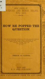 How he popped the question .._cover