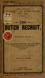 The Dutch recruit; or The blue and gray .._cover