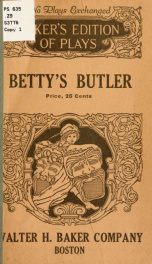 Betty's butler .._cover