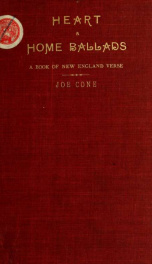 Heart and home ballads; a book of New England verse_cover