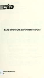 Fare structure experiment report_cover