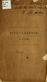 Fitz Clarence: a poem_cover