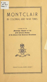 Montclair in colonial war times_cover