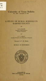 A study of rural schools in Karnes county_cover