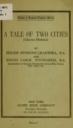 A tale of two cities (Charles Dickens)_cover