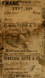 R.L. Polk & Co.'s Baltimore city directory for ... : containing a new map of the city, a carefully classified business directory, new and complete street directory, giving both the old and new numbers ... and an appendix of much useful information. (1889)_cover