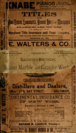 R.L. Polk & Co.'s Baltimore city directory for ... : containing a new map of the city, a carefully classified business directory, new and complete street directory, giving both the old and new numbers ... and an appendix of much useful information. (1888)_cover