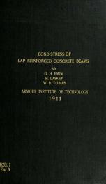 Bond stress of lap reinforced concrete beams_cover