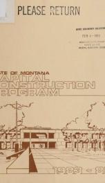 Capital construction program 1983-85_cover