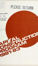 Capital construction program 1981-83_cover